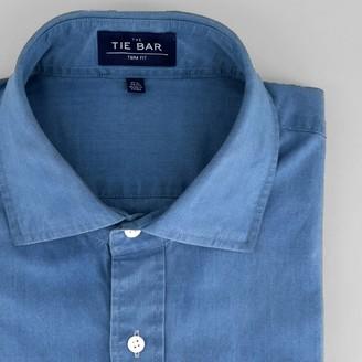 Tie Bar Chambray Indigo Dress Shirt