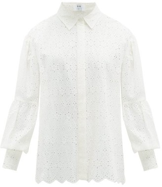 Sir - Amelie Broderie-anglaise Cotton Blouse - Womens - Ivory