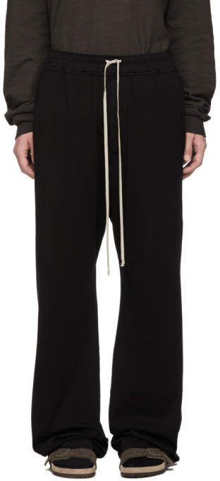 Rick Owens Black Mastodon Drawstring Lounge Pants