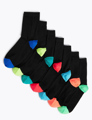 Marks and Spencer 7pk Cotton Heel & Toe Socks