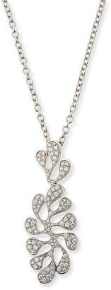 Miseno Sea Leaf 18K White Gold & Diamond Pendant Necklace
