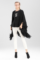 Josie Natori Textured Wool Shawl