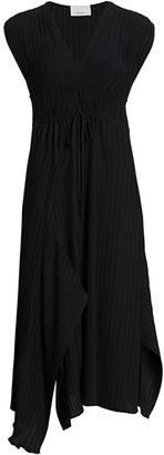 3.1 Phillip Lim Pleated V-Neck Mid-Length Dress