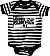 Kiditude Johnny Cash Folsom Prison Baby Onesie, Black