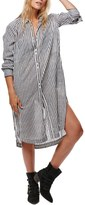 Free People Faded in the Morning Linen Blend Shirtdress