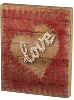 Primitives By Kathy Love Heart String Art Box Sign