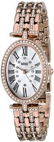 Badgley Mischka Women's BA/1356WMRG Swarovski Crystal Accented Rose Gold-Tone Bracelet Watch