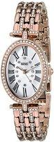 Badgley Mischka Women's BA/1356WMRG Swarovski Crystal Accented Rose Gold-Tone Bracelet Watch