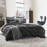 Kenneth Cole Reaction Home Obsidian Reversible Twin Duvet Cover in Black