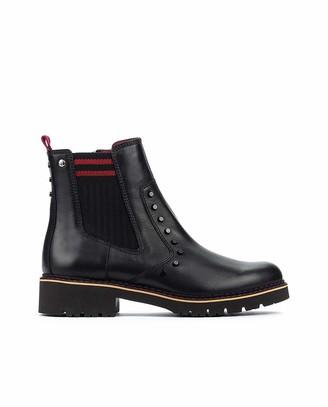 PIKOLINOS Leather Ankle Boots Vicar W0V Black