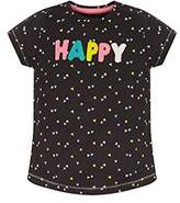 Mothercare Girl's Be Nice T-Shirt,(Manufacturer Size: 116 cms)