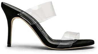 Thumbnail for your product : Manolo Blahnik PVC Scolto 90 Sandal in Black