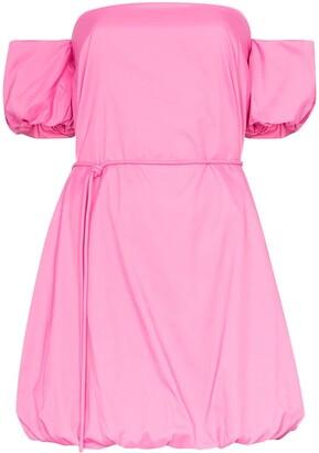 STAUD Ash bubble-hem mini dress
