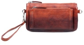 Old Trend Petal Leather Clutch