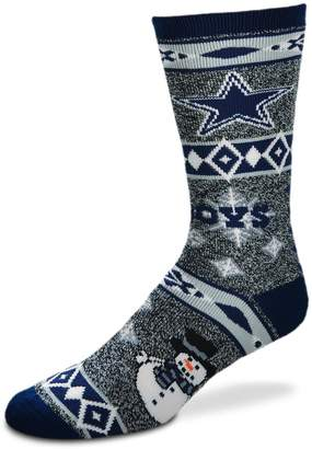 For Bare Feet Adult Dallas Cowboys Team Ugly Holiday Crew Socks