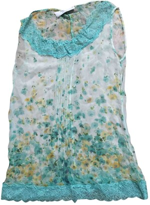 Blumarine Turquoise Lace Top for Women