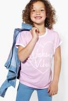Boohoo Girls Weekend Vibes Tee pink