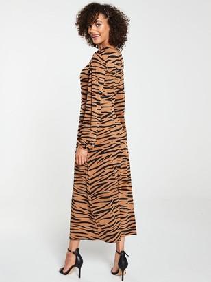 Very Midaxi Split Front Dress - Animal Print