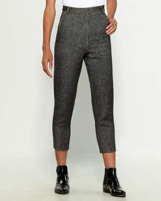Hache Linen-Blend Crop Pants