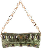 Prada Snakeskin Pietre Shoulder Bag