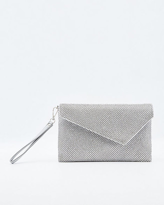 Le Château Jewel Embellished Satin Clutch
