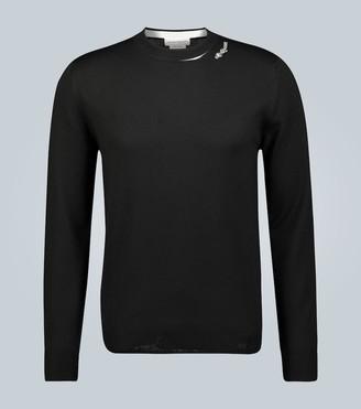 Alexander McQueen Logo patch wool sweater