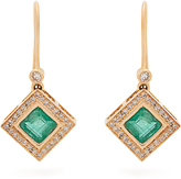 Jade Jagger Diamond, emerald & yellow-gold earrings