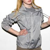 American Apparel Unisex Silver Nylon Taffeta A-Way Jacket