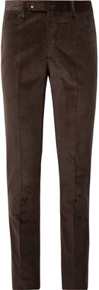 Sid Mashburn Chocolate Slim-Fit Cotton-Corduroy Suit Trousers