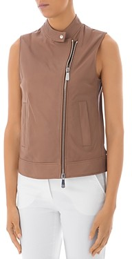 Peserico Zip-Front Leather Vest
