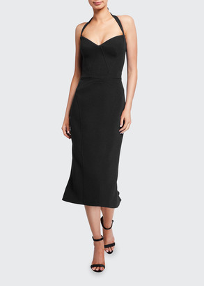 Zac Posen Halter-Neck Sweetheart Sheath Dress