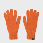 Paul Smith Women's Burnt Orange Lambswool Gloves