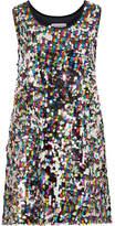 Mira Mikati Sequined Tulle Mini Dress - Metallic