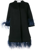Gianluca Capannolo Capucine feather embellished coat