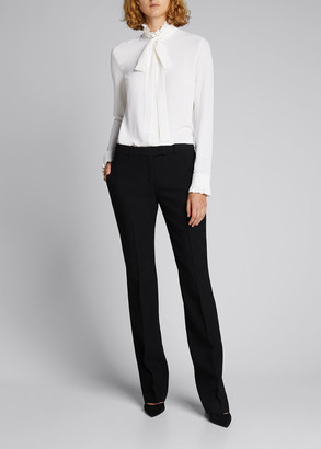 Michael Kors Collection Hansen Straight-Leg Crepe Trousers