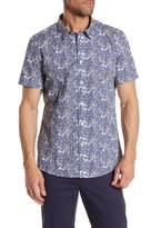Twentymetrictons Short Sleeve Button Front Floral Shirt