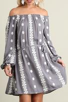 Umgee USA Grey Floral Dress