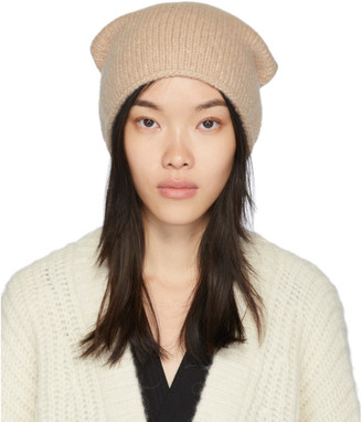 LAUREN MANOOGIAN Beige Crown Beanie