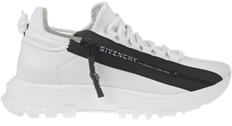 Givenchy Woman White Spectre Running Low Sneakers With Zip