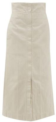 Lemaire High Rise Denim Maxi Skirt - Womens - Ivory