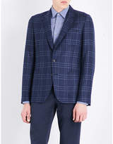 Paul Smith Checked Kensington-fit wool and silk-blend jacket