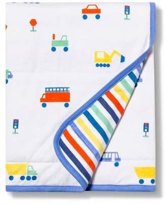 Cloud Island Jersey Knit Blanket Transportation - Cloud IslandTM White/Blue