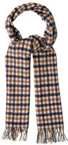 Aquascutum London Cashmere Check Pattern Scarf