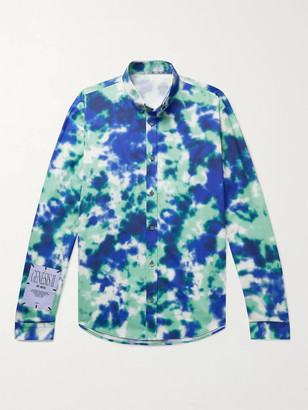 McQ Appliqued Tie-Dyed Cotton-Poplin Shirt