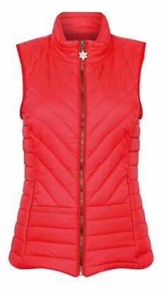 Socks Uwear Ladies Champion Saltburn Zip Closure Quilted Gilet Bodywarmer - Red - 10