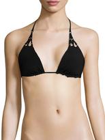 Red Carter Solid Triangle Bikini Top