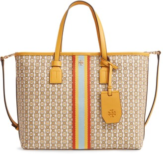 Tory Burch Small Gemini Link Coated Canvas Tote