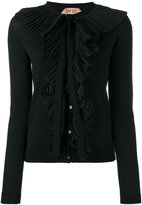 No.21 frill detail cardigan - women - Cotton - 42