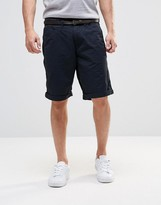 Esprit Chino Shorts with Faux Leather Belt