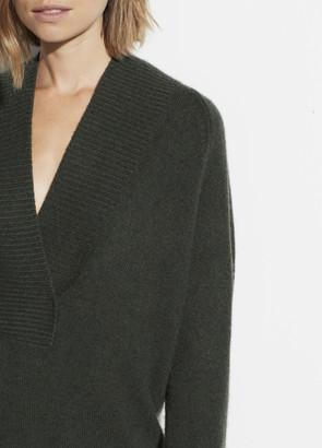 Wool Cashmere Shawl Collar Tunic